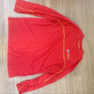 NFL Shirts - Long sleeve KC Chiefs shirt size L good condition